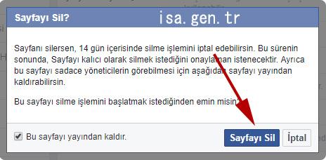 facebook sayfa silme işlemi nasıl yapılır