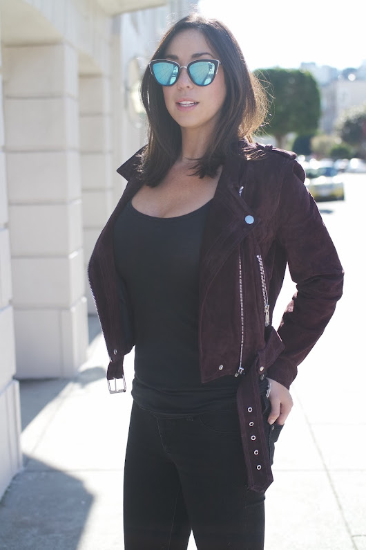 Purple Suede Leather Jacket