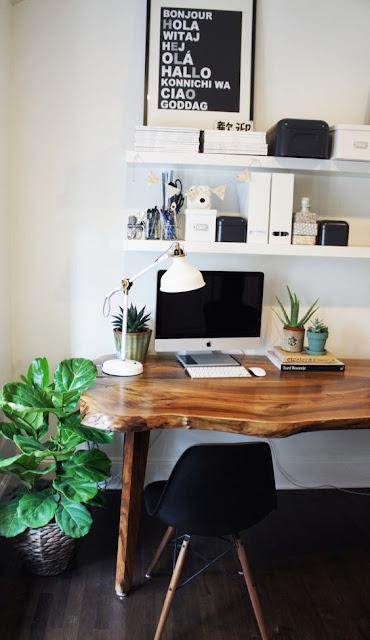 оригинальный письменый стол из дерева