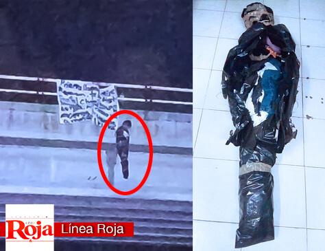 Cuelgan muñeco y manta para amenazar a Miguel Ramón, candidato a diputado federal por el PAN-PRD-MC del D-1. Reacciona Gobierno de Q. Roo