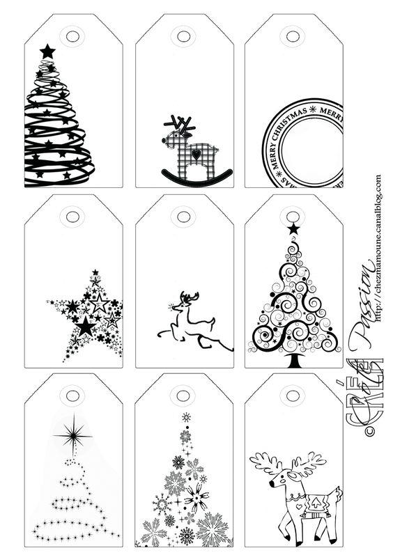 Bau Da Web Etiquetas De Natal Brancas Para Imprimir E Colorir