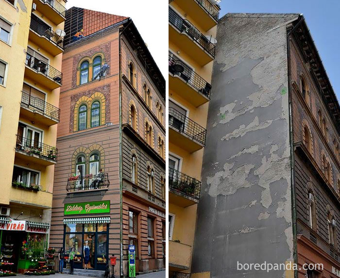10+ Incredible Before & After Street Art Transformations That'll Make You Say Wow - Budapest's District 7