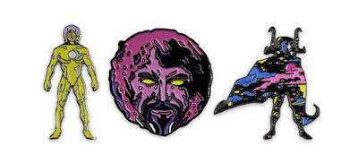 San Diego Comic-Con 2017 Exclusive Marvel Cosmic Entities Enamel Pins by We Buy Your Kids & Mondo – The Living Tribunal, Ego the Living Planet & Eternity