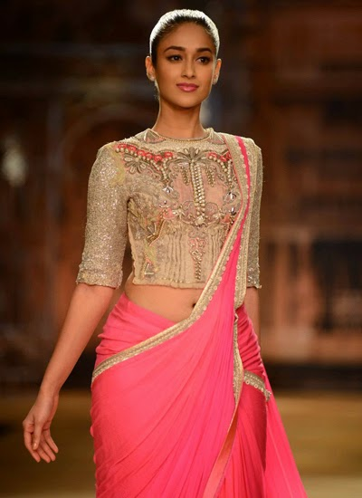 Ileana D'Cruz walks the ramp for Sulakshana Couture show at ICW