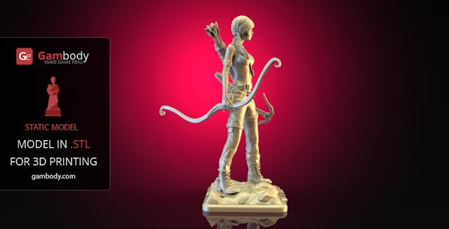 Lara Croft 3D model