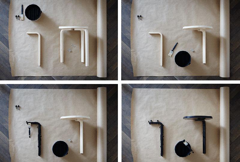 tutorial per trasformare lo sgabello FROSTA di IKEA