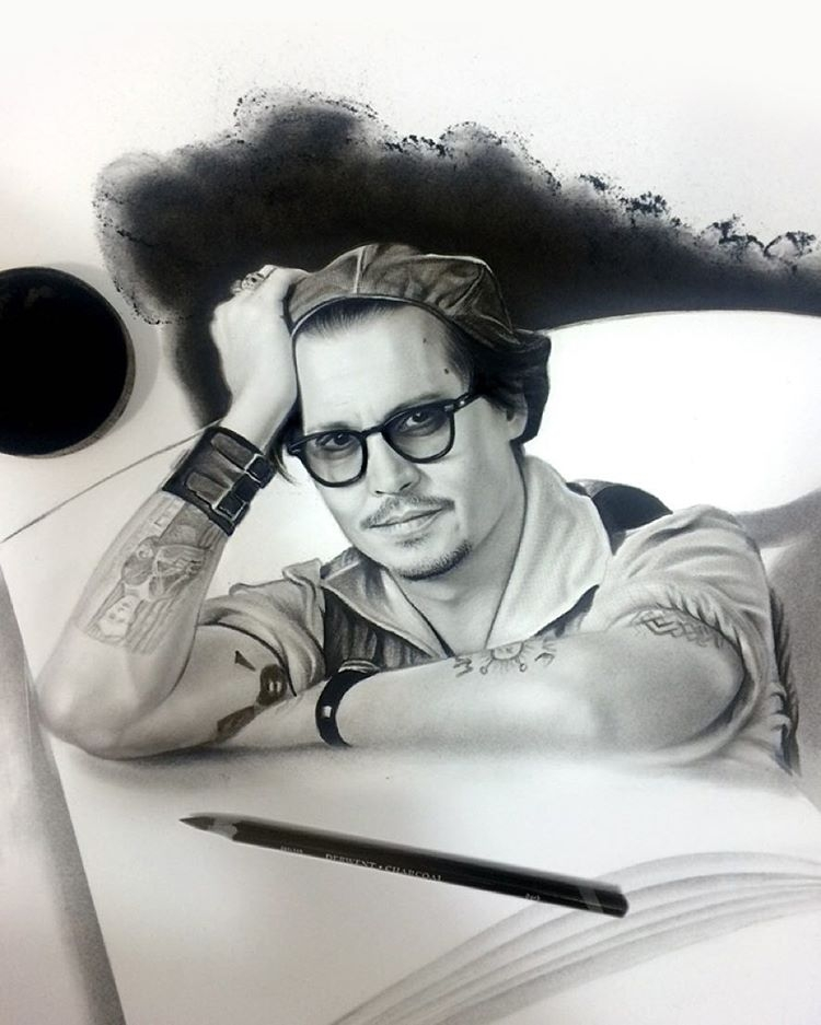 13-Johnny-Depp-aymanarts-Realistic-Drawings-of-Celebrities-and-Other-www-designstack-co