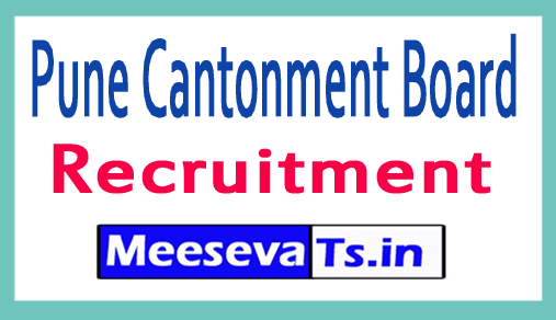 Pune Cantonment Board PCB Recruitment