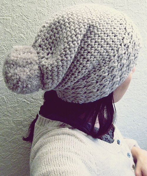 Slouchy Crocheted Hat - Free Pattern