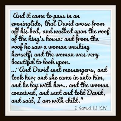 City of David - David sins with Bathsheba