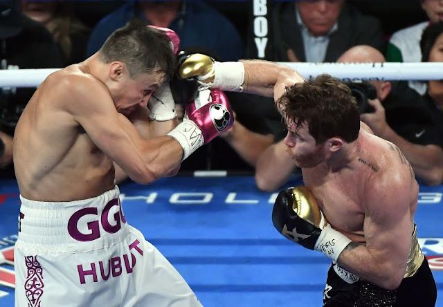 Canelo Alvarez Def GGG Fight Photos
