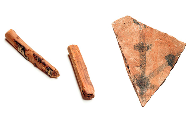 Unearthed sticks likely used as dice for game in Nara Period
