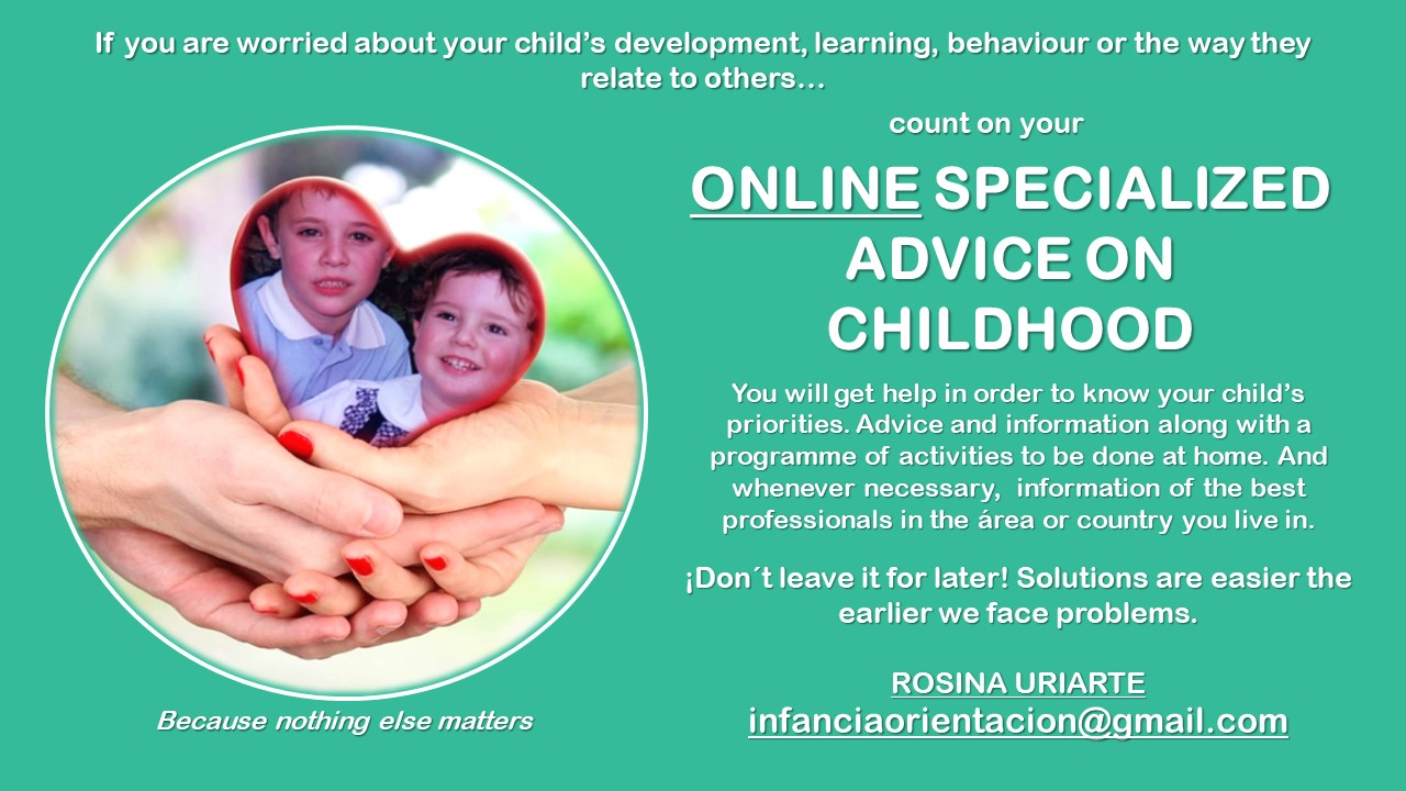 ONLINE SPECIALIZED ADVICE ON CHILDHOOD