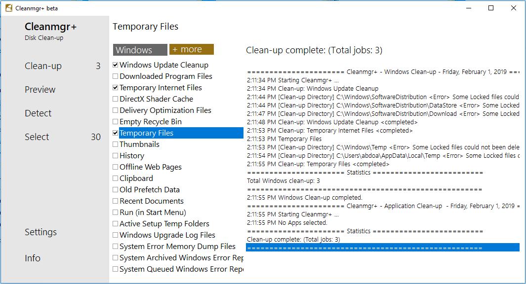 Cleanmgr+ 1.0.3.249
