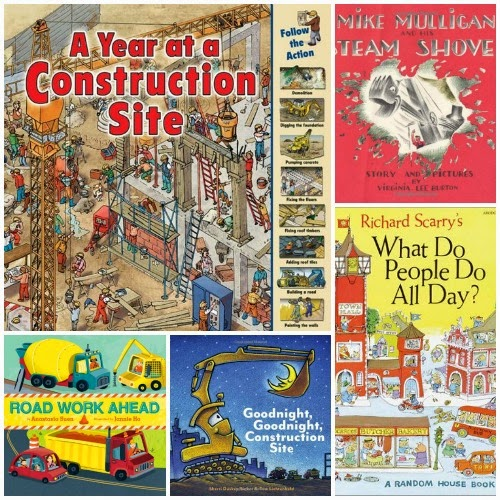 Construction Theme- Weekly Home Preschool Book list
