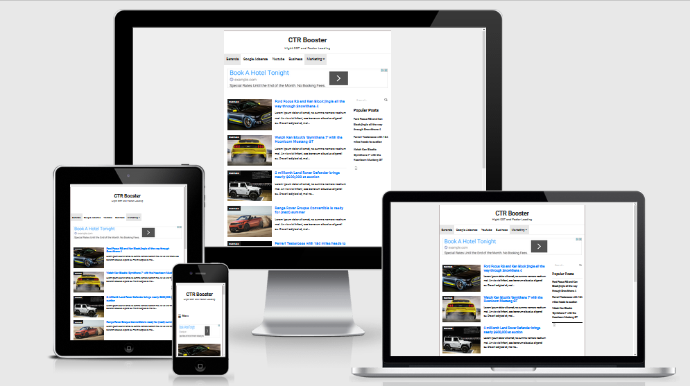 Simple blog template responsive suitable for adsense #blogger 99.