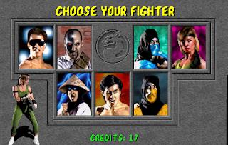 Imagen con la pantalla de selección de personaje en la recreativa de Mortal Kombat