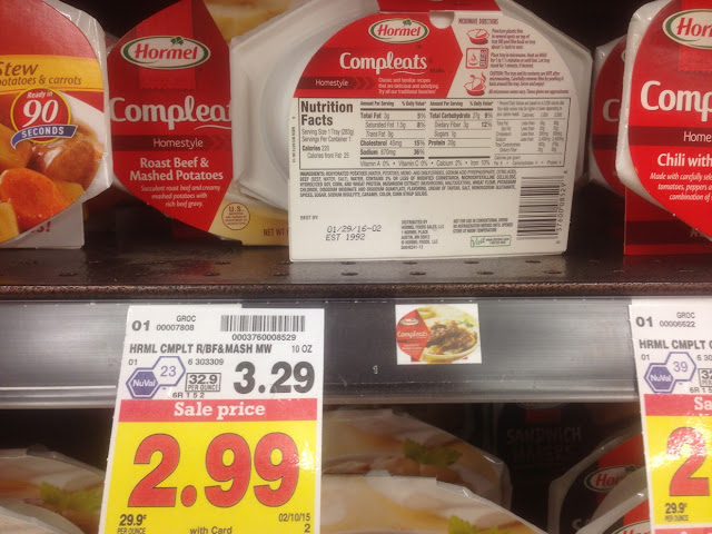 Roast Beef & Mashed Potatoes, Hormel Compleats - Kroger