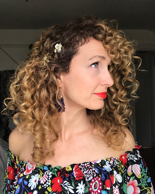 naturally curly fancy hairstyle