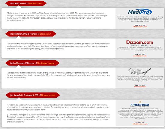 Knownhost users review, testimonials, premium hosting