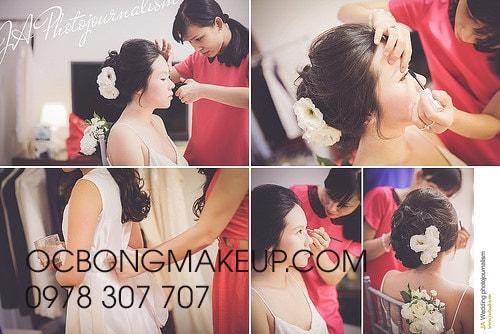 Dịch vụ trang điểm cô dâu tại nhà
