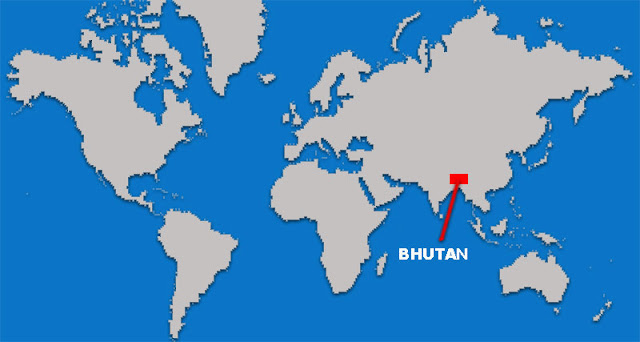 Gambar Peta letak Negara Bhutan