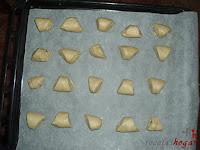 Triángulos en la bandeja del horno
