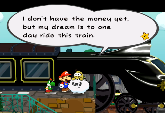Paper Mario The Thousand Year Door Excess Express poor Lakitu dreaming ride the train