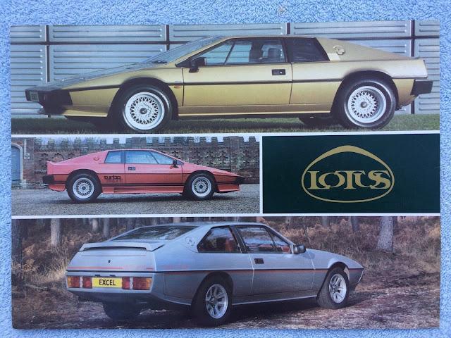 Advertising Responsible Lotus Esprit Post Card Brochure Sales Literature