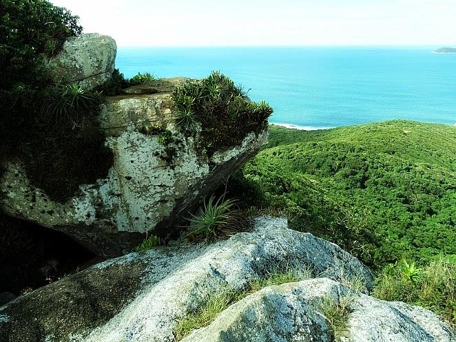 Guarda do Embaú vista da Pedra do Urubu, em Palhoça, Santa Catarina