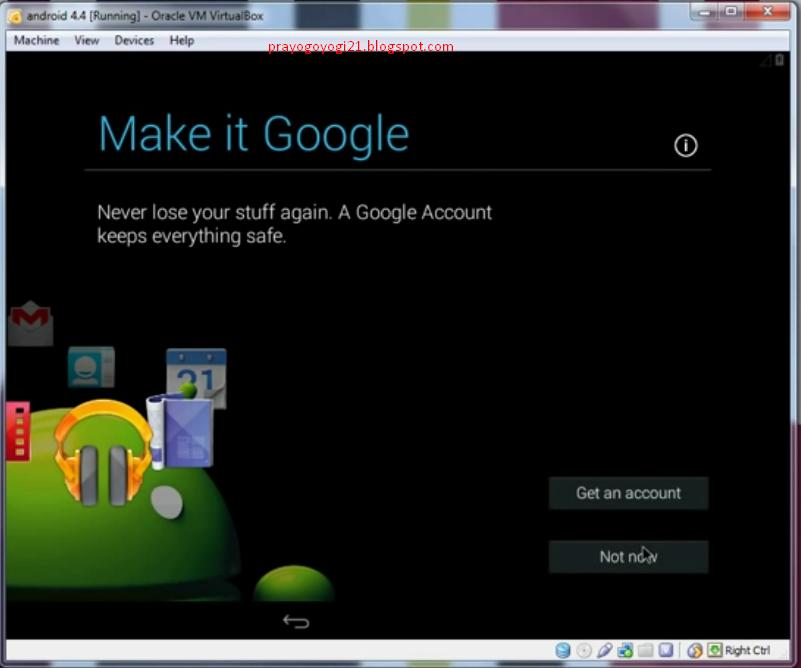 Cara Install Android KitKat Di VirtualBox