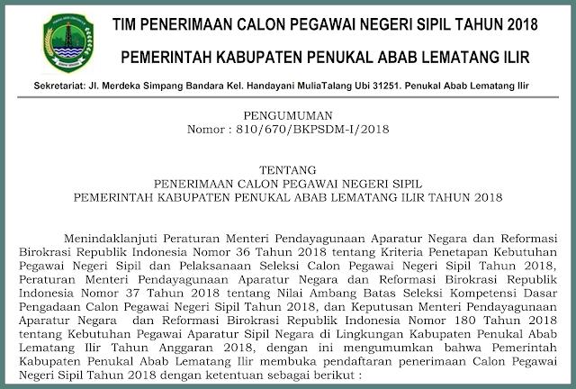 rincian formasi cpns kabupaten pali 2018