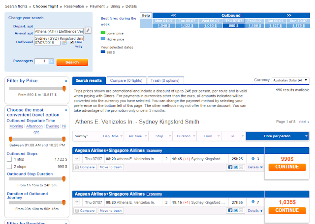 Bravofly Screenshot Flight Booking Process