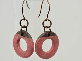 Circle Love Earrings by BayMoonDesign