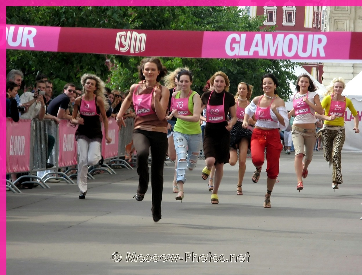 Glamour Stiletto Run - 2006 in Moscow. The final run.