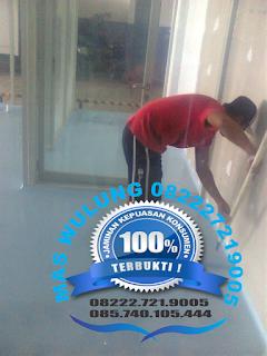 Jasa epoxy lantai ruang produksi garment textile pabrik