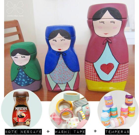 Reaproveitando embalagens de produtos reciclar e decorar - Matrioska in terapia ...