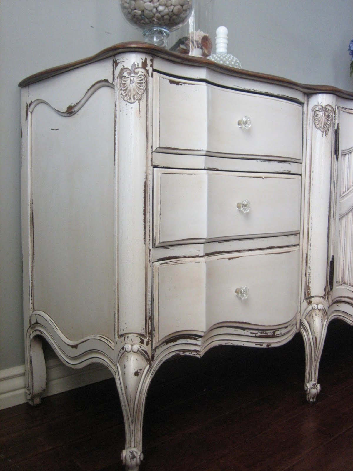European Paint Finishes French Provincial Dresser