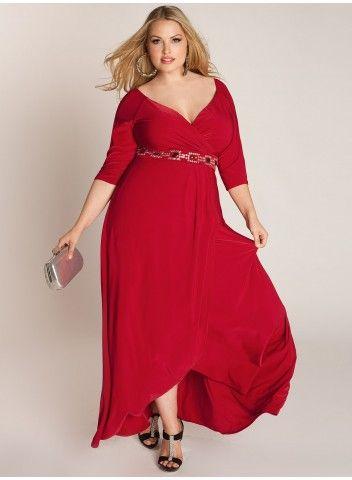 Vestidos rojos largos para gordas