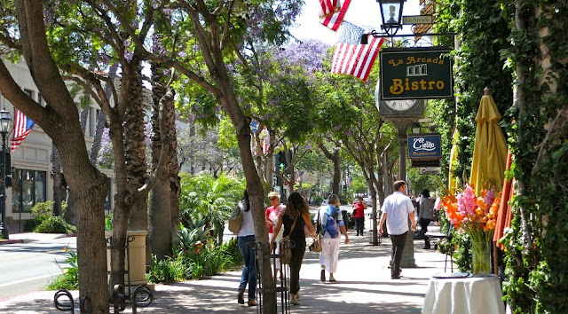 Olvera Street em Los Angeles na Califórnia