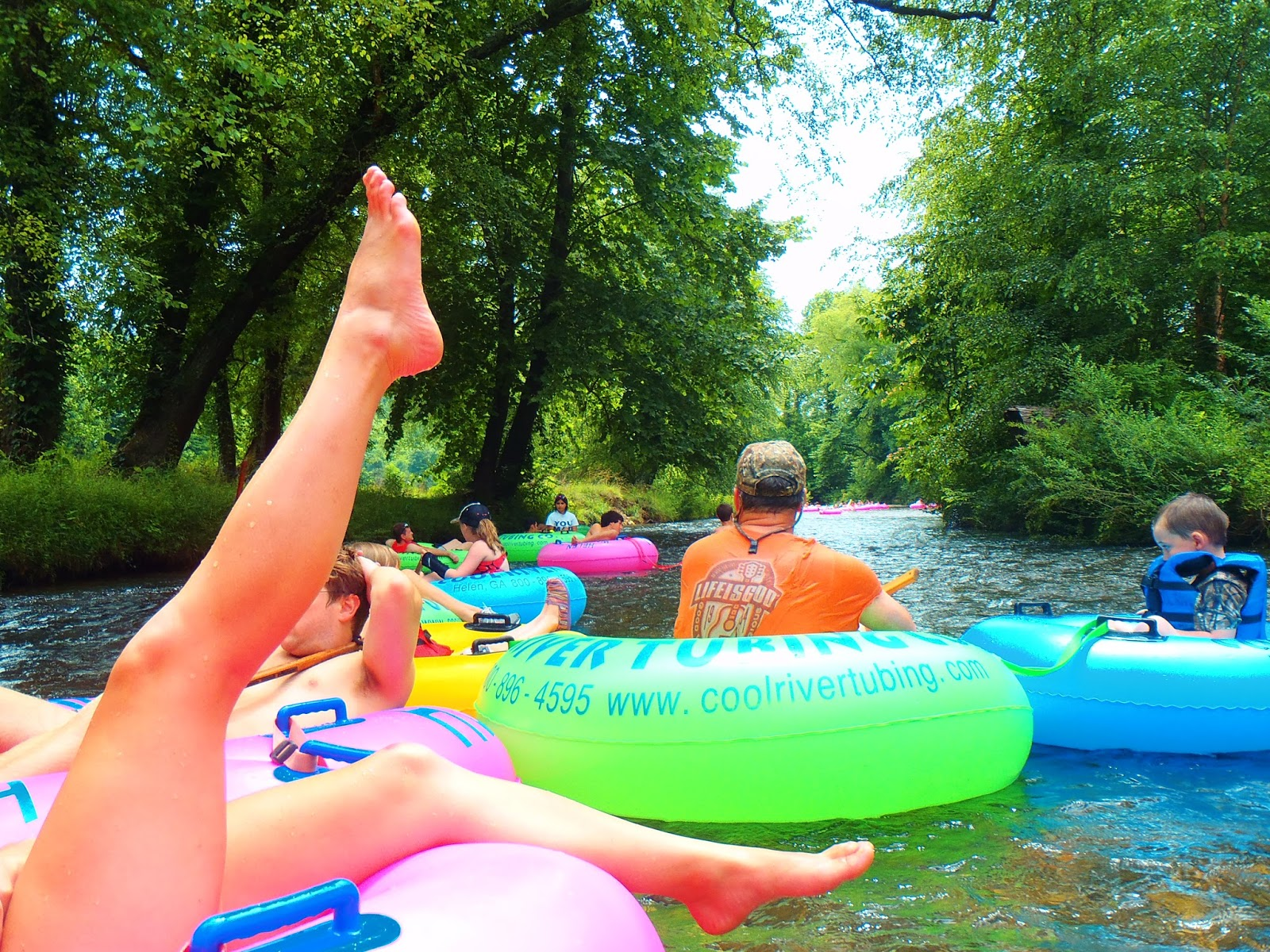 Tubing down river Helen Georgia
