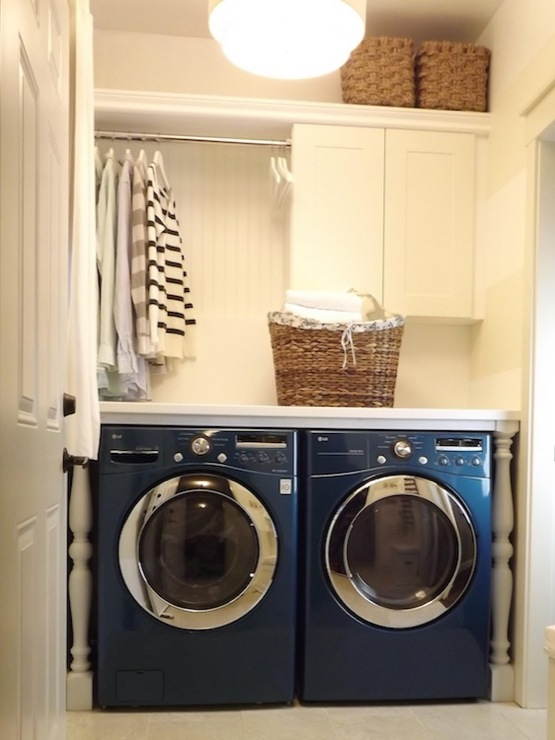 Wrapped In Raffia Washer And Dryer Countertop