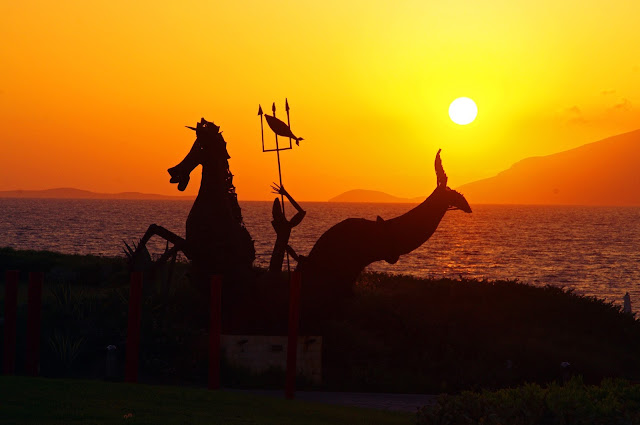 Sculptures and Sunset Neptune Hotel Kos