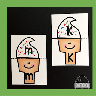 ice cream alphabet matching