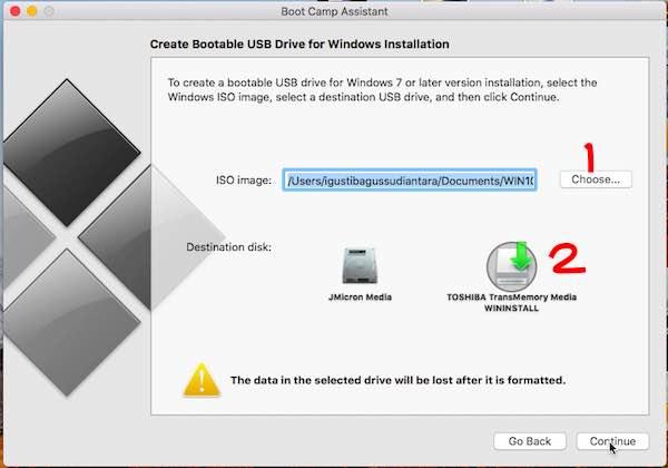 Cara Instal Windows Di Macbook Dengan Bootcamp - ISO Image