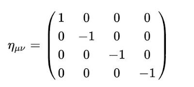Metrica del espacio-tiempo de la Relatividad Especial
