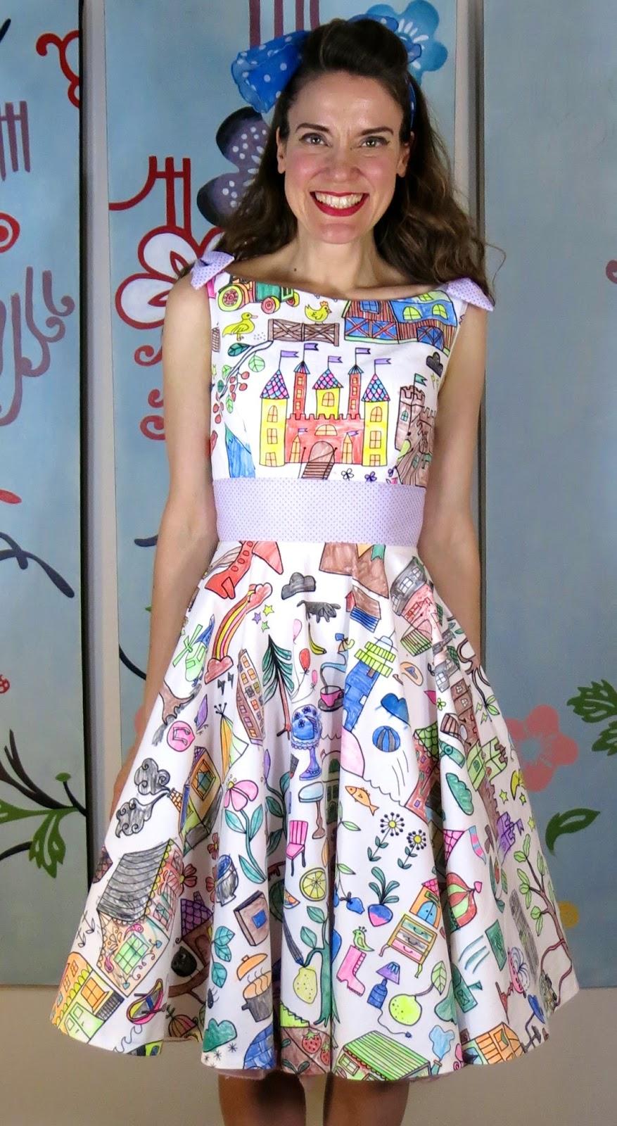 DIY A Coloring Book Dress