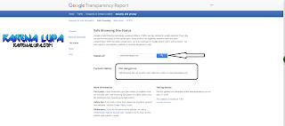 Hasil dari cara cek status keamanan link dengan google, contoh dan hasil scan link dari virus dan malware dengan google safe browsing