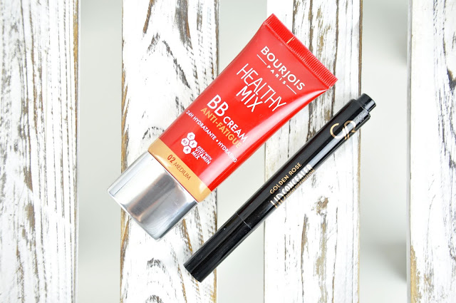 podkład bourjois healty mix bb cream, korektor pod golden rose hd concealer
