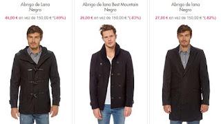 ropa para hombre 3 abrigos
